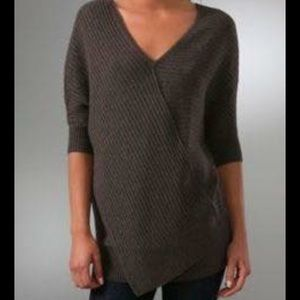 Vince Wool Cocoon Crossover Asymmetrical Sweater